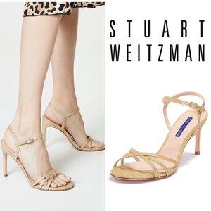 🆕Stuart Weitzman Crisscross Sandal Gold Metallic